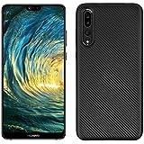 كفر حماية كاربون فايبر مرن لون أسود لجوال هواوي بي20 برو بشريحتي اتصال Huawei P20 Pro