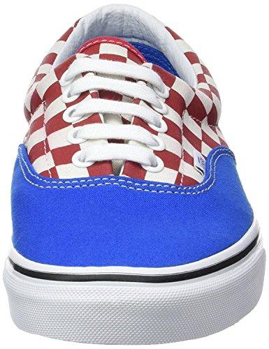 Vans U Era Blu Rosso Check Mens Scarpe Da Ginnastica Su Tela Shoes-7
