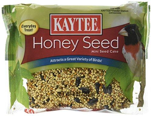 Kaytee Honey Mixed Seed Mini Cake, 9-Ounce