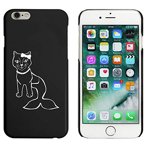 Schwarz 'Meerjungfrau Katze' Hülle für iPhone 6 u. 6s (MC00037337)
