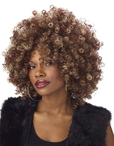 Womens 70s Halloween Costume Foxy Cleopatra Afro Fro -