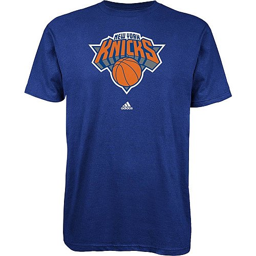 NBA New York Knicks Primary Logo Tee, Royal Blue, Medium Adidas New York Knicks Primary