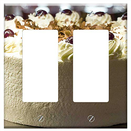 Switch Plate Double Rocker/GFCI - Black Forest Cake Cake Cream Dessert Food - Desserts Calorie