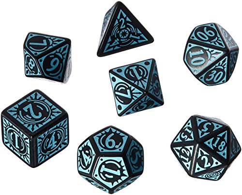 - Q WORKSHOP Pathfinder Iron Gods Rpg Ornamented Dice Set 7 Polyhedral Pieces