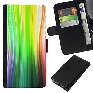 All Phone Most Case / Oferta Especial Cáscara Funda de cuero Monedero Cubierta de proteccion Caso / Wallet Case for LG OPTIMUS L90 // Green Summer Abstract Lines Sun