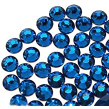 Your Perfect Gifts 1440 pcs DMC Iron On Hotfix Hot Fix Glass Crystal Rhinestone 36 Colors and 4 Sizes (SS6/2mm, SS10/3mm, SS16/4mm, SS20/5mm) Available (capri blue - LR506, SS10/3mm)