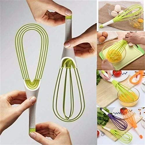 MUDEREK 1Pc Multi-functional Rotatable Egg Whisk Hand Mixer Beater Kitchen Cooking Tool Whisks