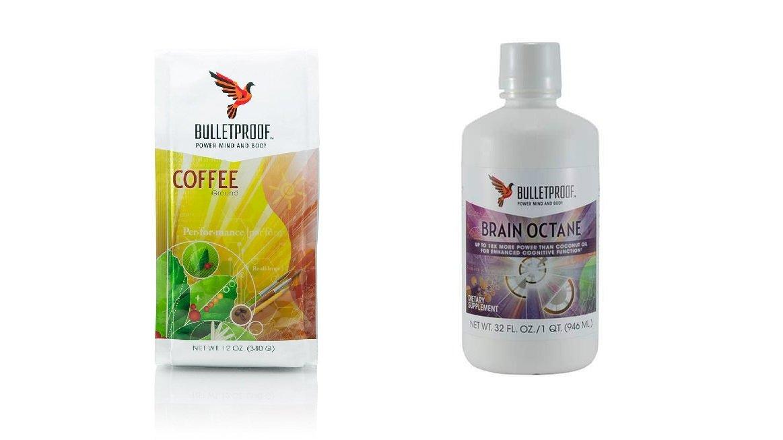 Bulletproof Coffee Ground and 32 Oz Brain Oil