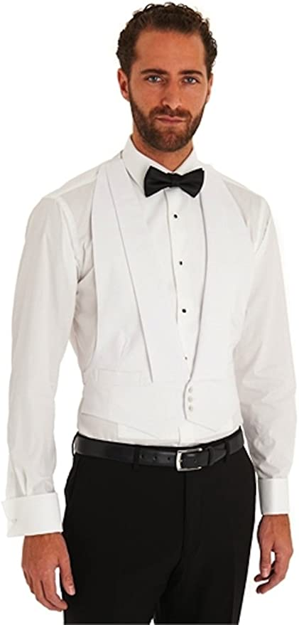 1920s Men's Fashion UK | Peaky Blinders Clothing Traditional White Marcella Dress Waistcoat for Evening/Tail Suit £28.95 AT vintagedancer.com