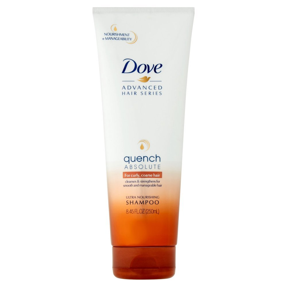 Dove Ultra Nourishing Shampoo Quench Absolute For Curly, Coarse Hair 8.45 Ounce (Pack of 2)