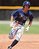 BRAXTON LEE TAMPA BAY RAYS AT BAT SIGNED AUTOGRAPHED 8X10 PHOTO W/COA