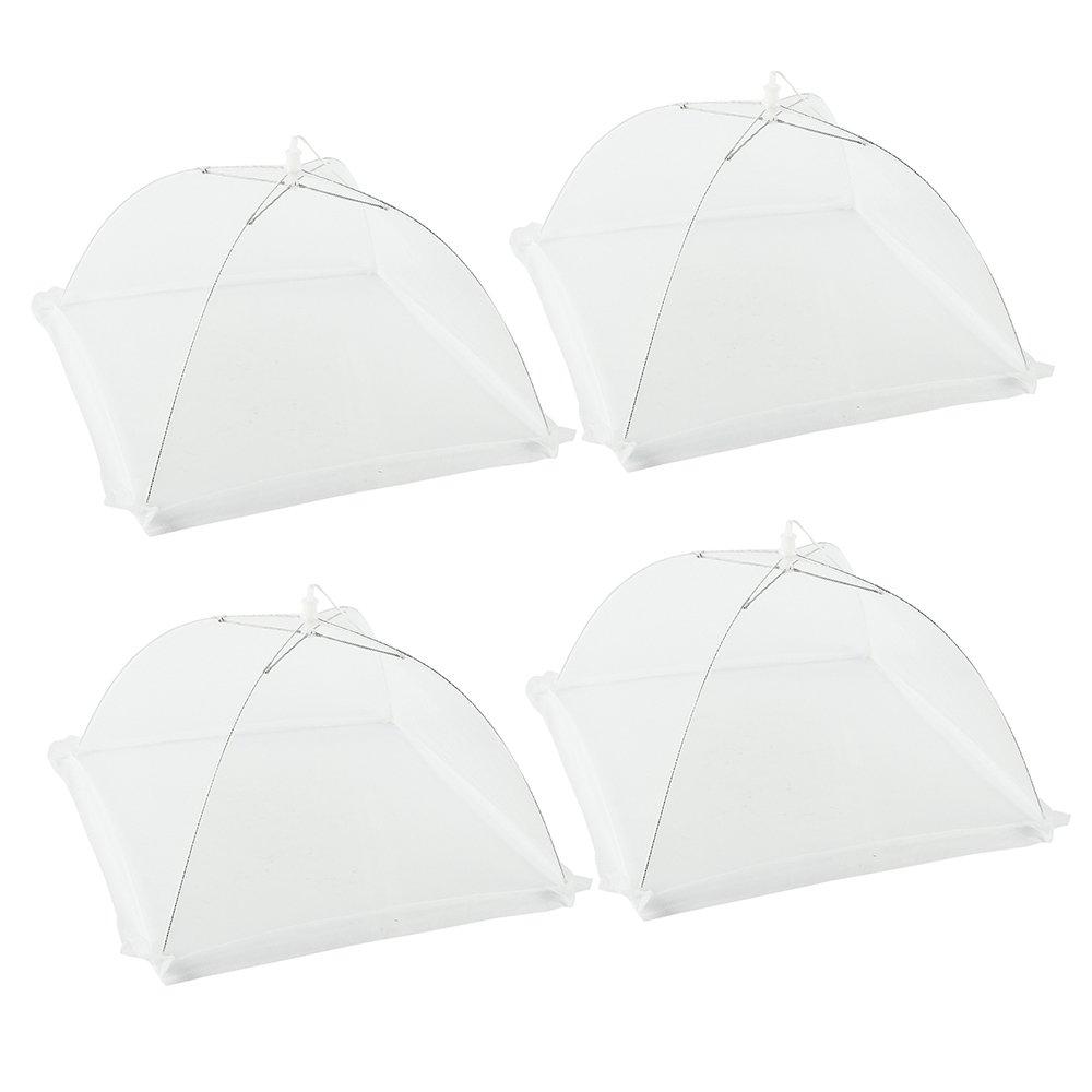 Unbekannt 4 Stück Fliegenhaube Insektenschutzhaube, Abdeckung für Speisen Lebensmittel Abdeckung Zelt für Draußen& Zuhause, 43 x 43 x 28 cm Weiß 43 x 43 x 28 cm Weiß New_Soul