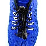 Elastolaces - No Tie Shoe Laces - 2 Additional Clips - Marathon Sport Schedule (Space Black)