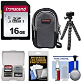 Essentials Bundle for Sony Cyber-Shot DSC-RX100 II III IV V VI Digital Cameras with 16GB Card + Case + Flex Tripod + Accessory Kit