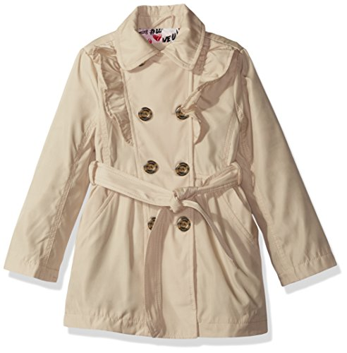 Urban Republic Little Girls' My Fave Trench Coat, Stone, 5/6