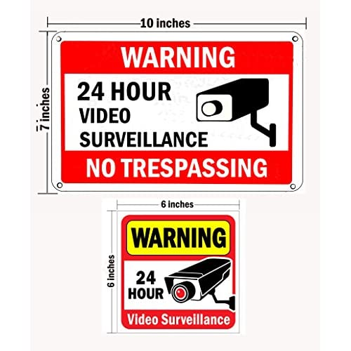 best WISLIFE Video Surveillance Sign Set, 2 (10