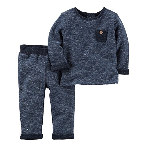 Carter's Baby Boys' 2 Piece French Terry Top and Pants Set 3 Months
