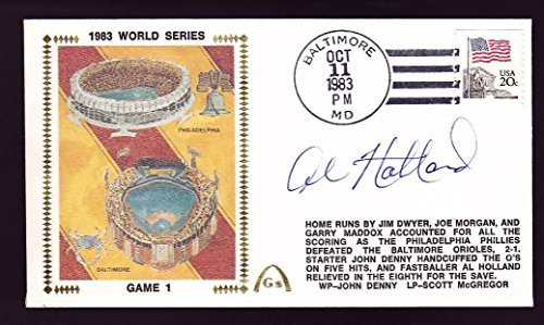 Al Holland Signed 1983 World Series Game 1 Gateway Cachet FDC Cover - PSA/DNA Certified - MLB Cut Signatures