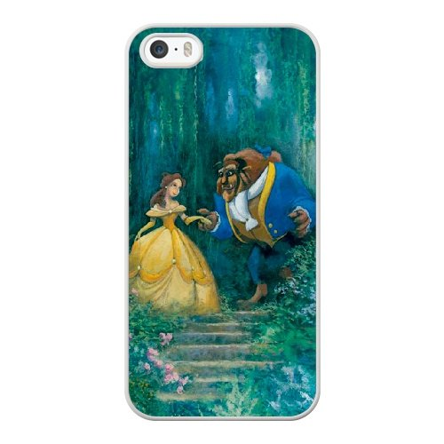 Coque,Coque iphone 5 5S SE Case Coque, Beauty And The Beast 2 Cover For Coque iphone 5 5S SE Cell Phone Case Cover blanc