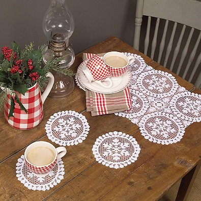 Doily Light Peach (Heritage Lace Yuletide Doilies (Set of)