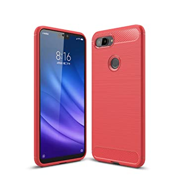 DYBOHF Funda Xiaomi Mi 8 Lite, Carcasa Xiaomi 8 Lite Silicona Bumper, Fibra de Carbono[Resistente a los Arañazos][Anti-Golpes] Resistente Huellas ...