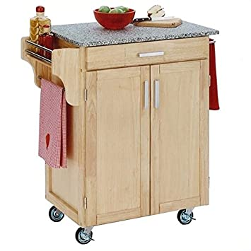 Amazon Com Hawthorne Collections Granite Top Kitchen Cart
