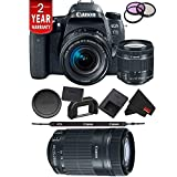 Canon EOS 77D DSLR Digital Camera 18-55mm Lens International Model Bundle + Canon 55-250 STM Lens Review