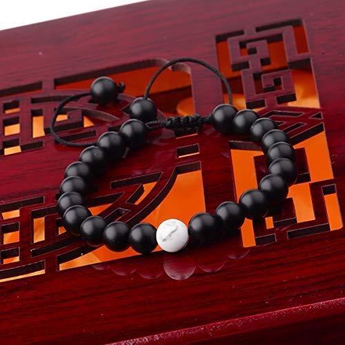 Werrox Men Spot Owl 8MM Beaded Natural Lava Stone Gold Silver Charm Fashion Bracelets | Model BRCLT - 3295 |