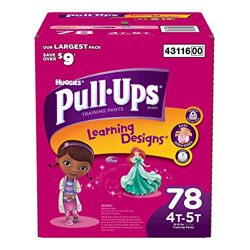 Huggies® Pull-Ups® Training Pants for Girls Size: 4-5T; 72 Count