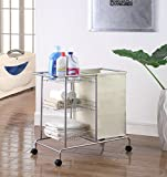 Artiva USA 8808C Home Rolling Laundry Cart, 32'' x 15.75'' x 28.5'', Silver/Grey