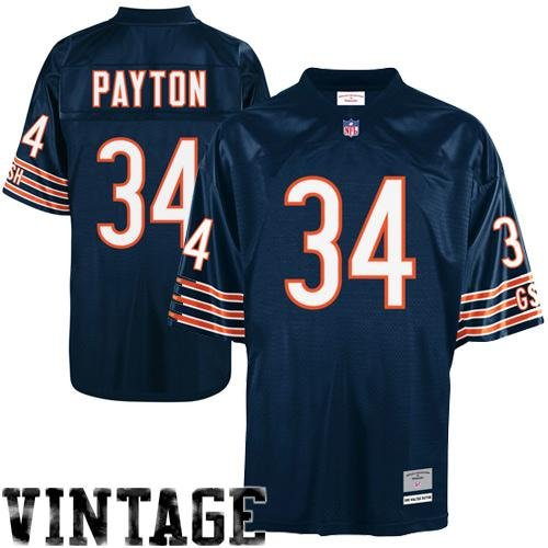 Mitchell & Ness Walter Payton Chicago Bears Dark Navy Throwback Jersey 4X-Large ()