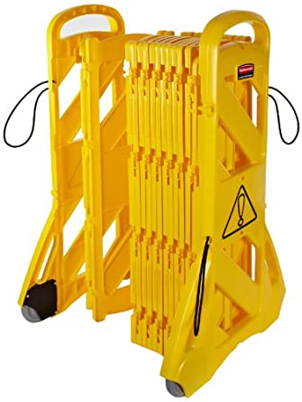 Rubbermaid Commercial Products FG9S1100YEL Mobile Barrier (40-Inch, Yellow)