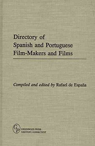 Directory of Spanish and Portuguese Film-Makers and Films By: Rafael De Espana published: May, 1995: Amazon.es: Libros