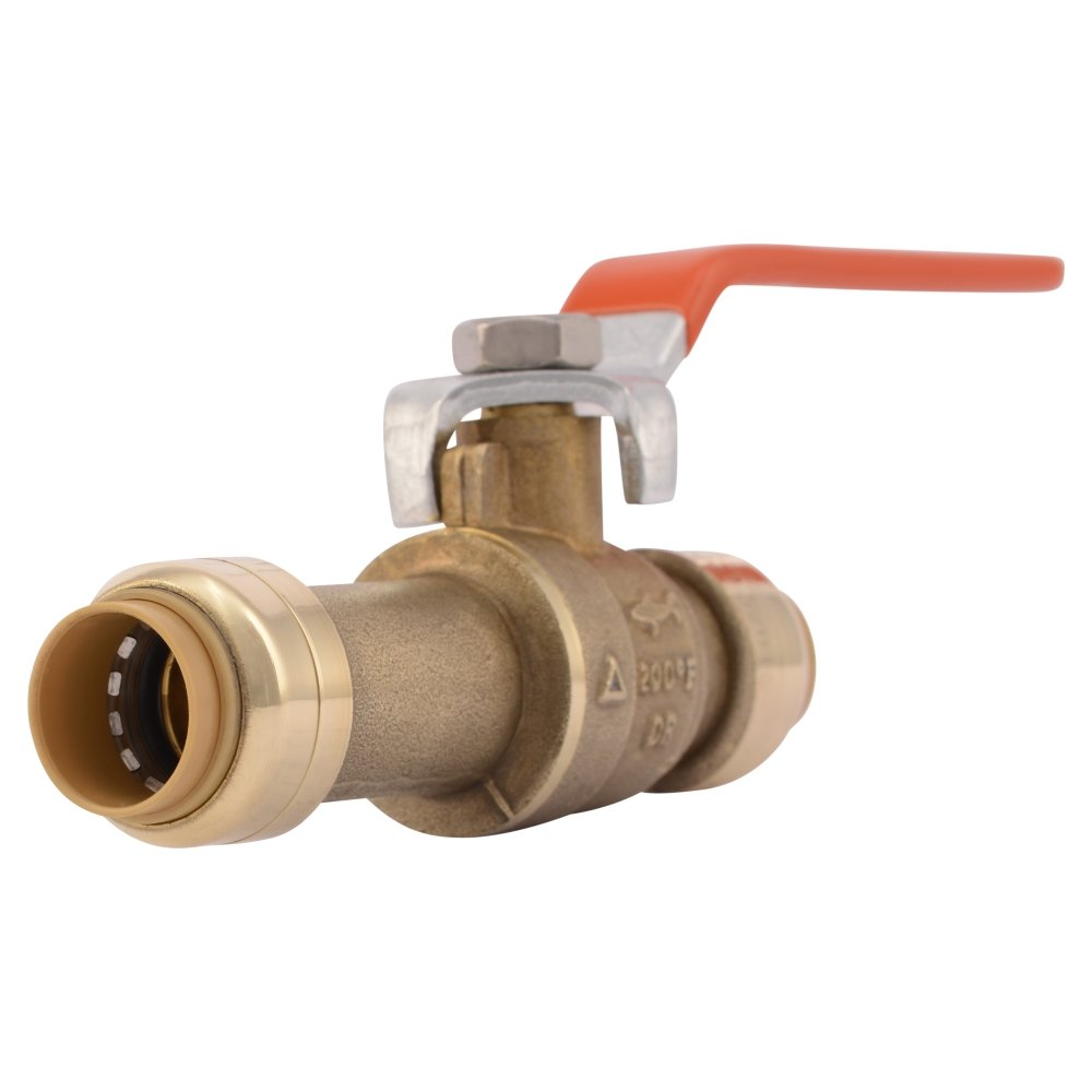SharkBite 24735LFA Slip Ball Valve 1/2 Inch, Water Valve Shut Off, Push-to-Connect, PEX, Copper, CPVC, PE-RT