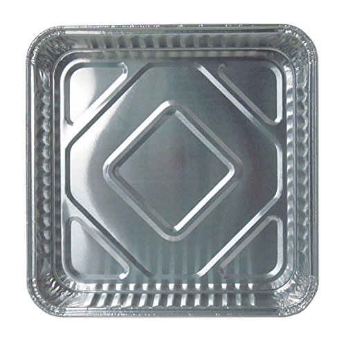 Durable Packaging Disposable Aluminum Square Cake Pan, 8'' x 8'' x  1-5/16'' (Pack of 500) by Durable Packaging