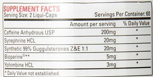 Nutrex Research Lipo 6 Diet Supplementrary Liqui Caps 120 Count
