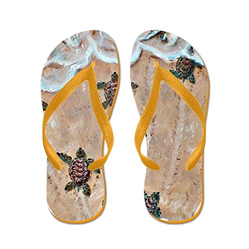 CafePress 2-Race To The Sea Oval copy - Flip Flops, Funny Thong Sandals, Beach Sandals ()