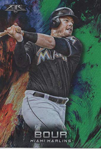 2018 Topps Fire Green #77 - Justin Bour- 4/199
