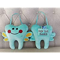 Tooth Fairy Pillow Plush with Money Pocket, Stuffy toy for kids birthday gift, Unisex colors for Boys and Girls, My Lost Tooth Pocket, Christmas gift for Kids
