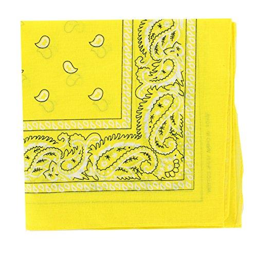 12PCS 100% Cotton Classic Paisley Bandana Head Wrap Scarf Handkerchief (Classic Bandana)