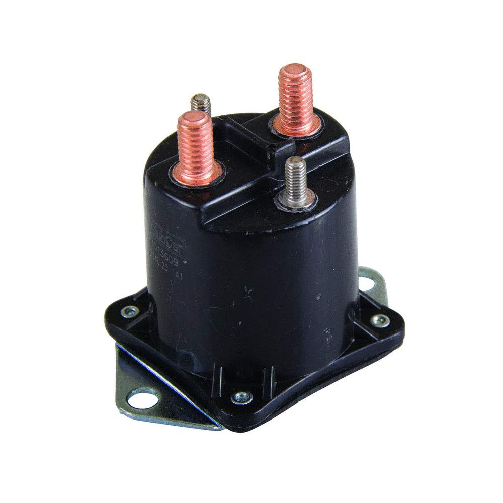 Stens 435-154 Starter Solenoid, Replaces Club Car: 1013609, Fits Club Car: Ds and Carryall, 4 Terminals, 12V, No Hardware Included
