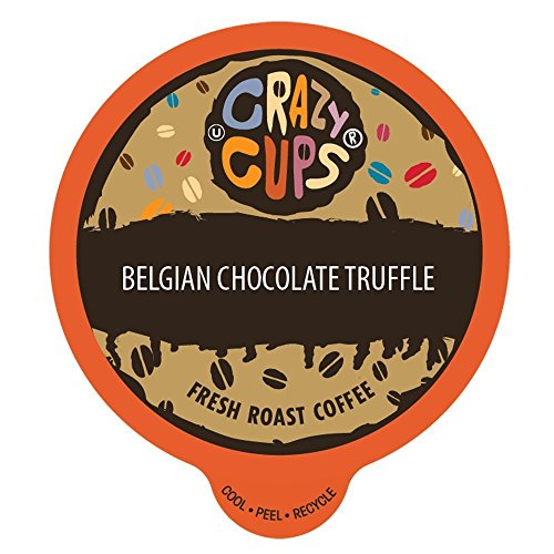 Crazy Cups Flavored Coffee, for the Keurig K Cups 2.0 Brewer, Belgian Chocolate Truffle, 22 Count