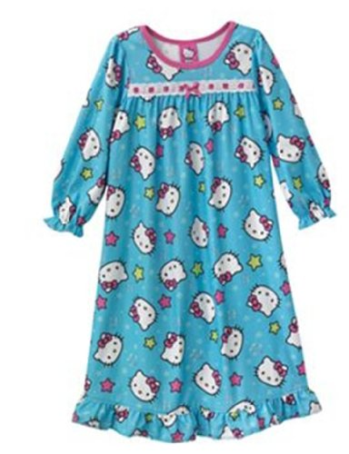 Toddler Hello Kitty Face Print Nightgown (4T)