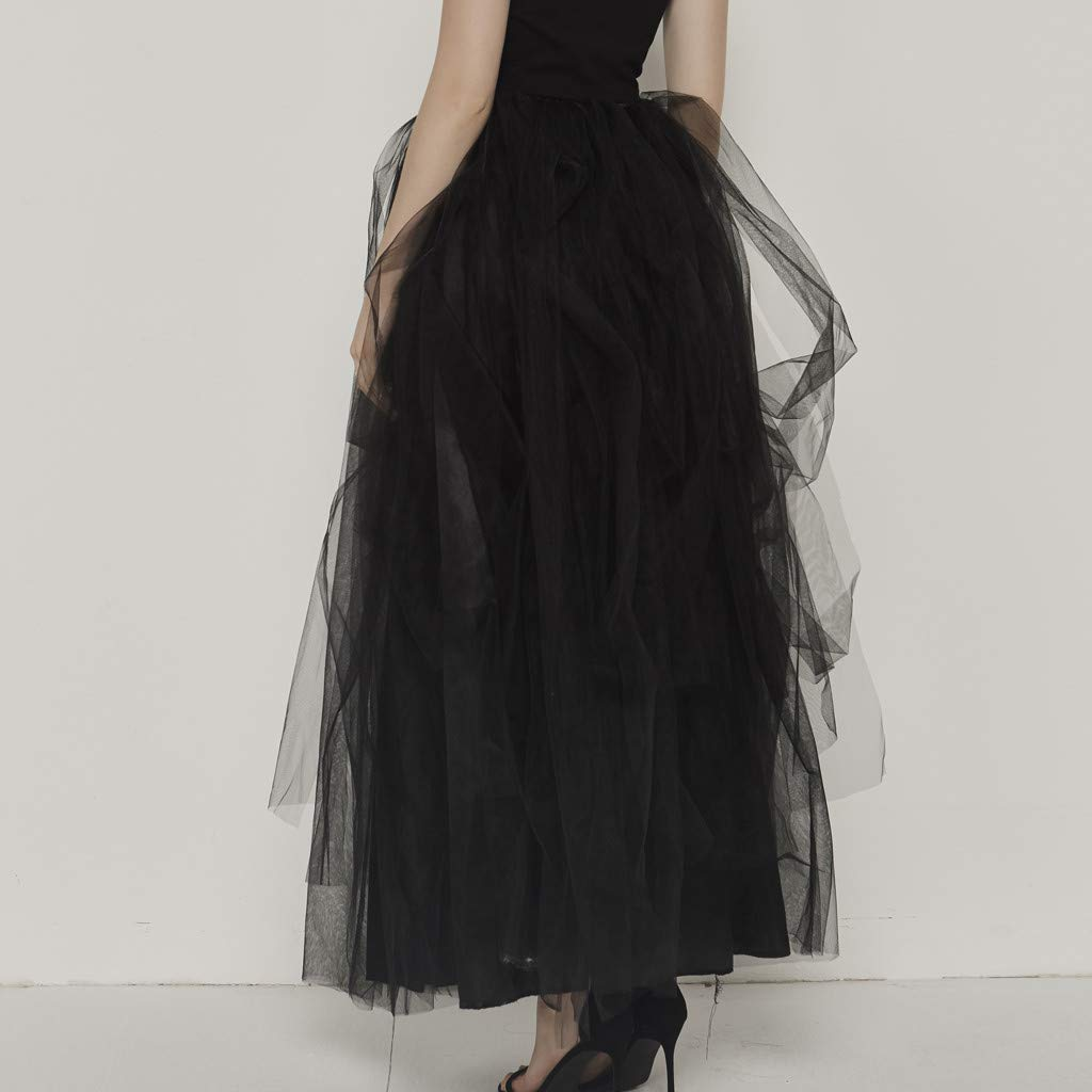 Qijinlook 💖 Faldas Tul Mujer/Abierta Lateral💖, Faldas largas ...