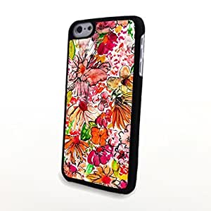 linJUN FENGGeneric Beautiful Liveliy Cute Flowers Matte Pattern PC Phone Cases fit for Colorful Charming iphone 6 4.7 inch Case