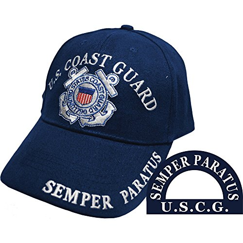 Mens Us Coast Guard - U.S. Coast Guard Semper Paratus Hat Navy Blue