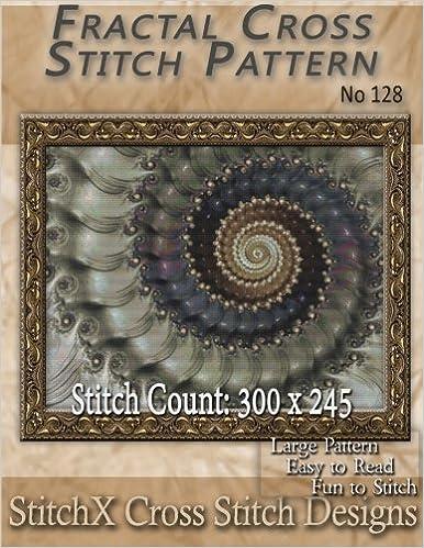 Fractal Cross Stitch Pattern - No. 128