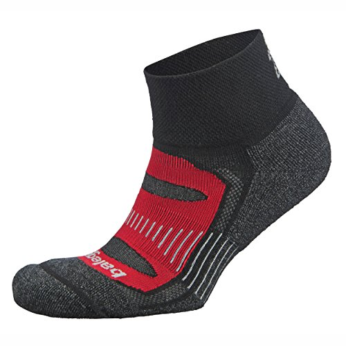 t Quarter Socks For Men and Women (1-Pair), Black/Red, Medium (Quarter Womens Socks)