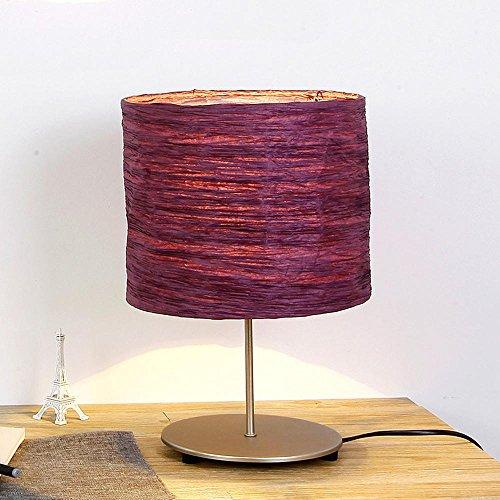 KHSKX Minimalistische Schlafzimmer Nachttischlampe, kreative Mode abnehmbar, Falten von Papier Abdeckung Nachttischlampe , Purple