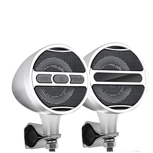 LanLan Altoparlanti Bluetooth per moto MP3 12V con sintonizzatore radio FM completamente nero